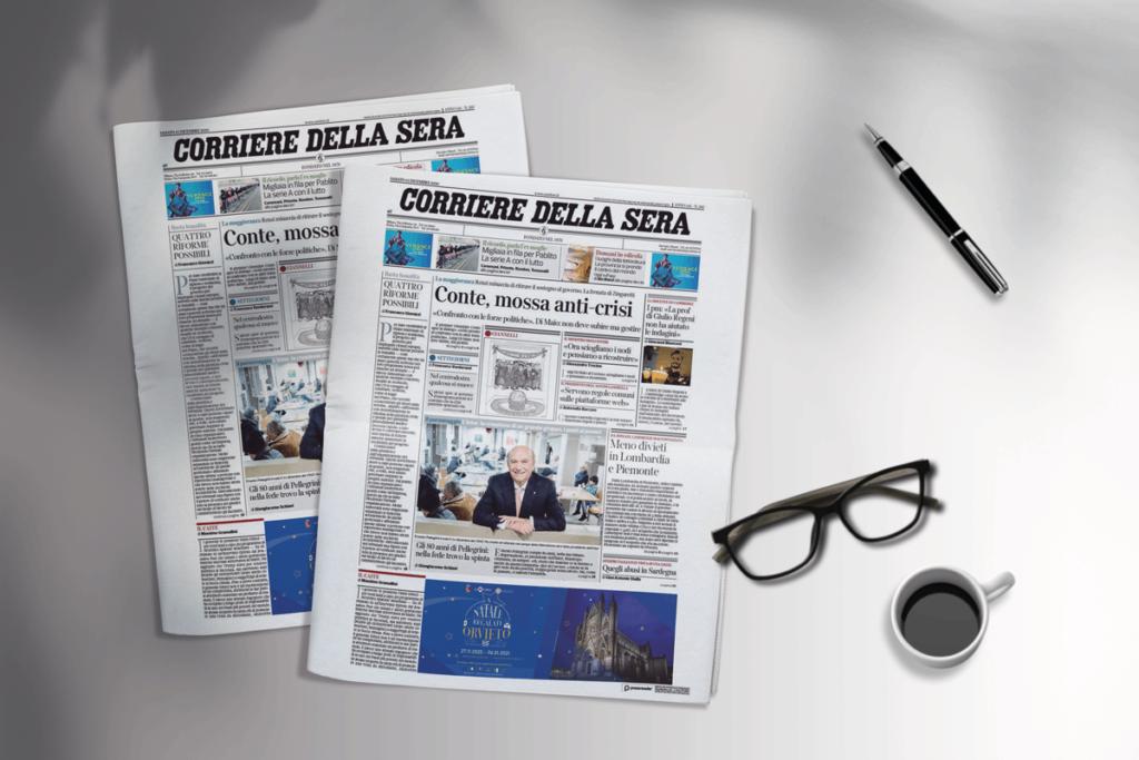 newspaper banner natale orvieto