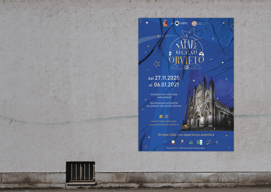 Poster A Natale regalati Orvieto