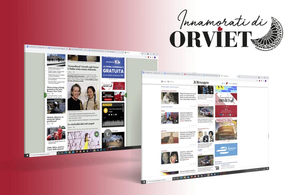 Messaggero e ANSA banner Orvieto